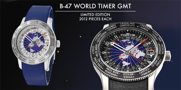 FORTIS B-47 WORLD TIMER GMT